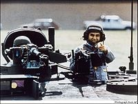Hoping to deflect criticism that he was soft on national defense, the 1988 Michael Dukakis campaign arranged for him to be photographed in a military tank at a General Dynamics plant in Michigan. It served no purpose other than to make Dukakis look silly, and the picture was used extensively in ads by Republican nominee George Bush. - #history #politics