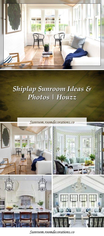 Shiplap Sunroom Ideas & Photos  Houzz in 21  Blue ceilings
