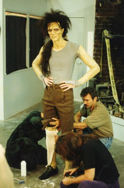 The actor playing Billy from Hocus Pocus getting ready.