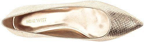 Nine West Women's Alicea Metallic Ballet Flat #Cute_Shoes, #Flats, #Shoes, #WomenS_Shoes