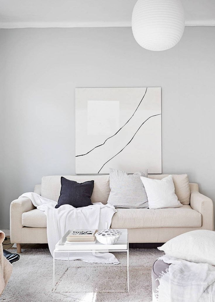 Living Room : A Home In Beige And Grey Via Coco Lapine Design Blog