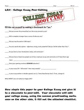 college essay about classmate