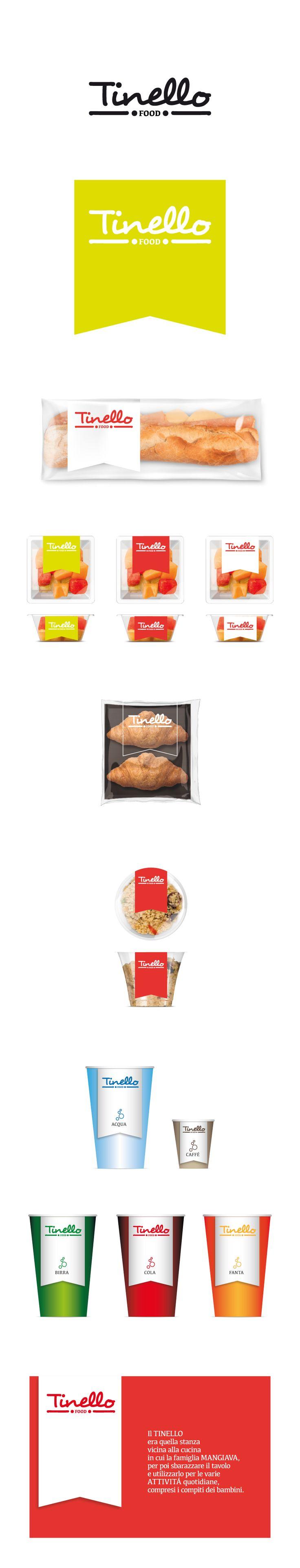 Food. Corporate identity. Personal project. Logo e immagine coordinata per Tinello FOOD.