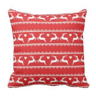 Reindeer Romance Designer Cushion