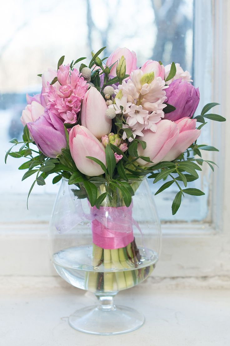 Весенний свадебный букет Pink Wedding bouquet