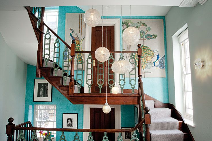 News and Views - article - Mary Portas A Room to Breathe.  Charter Projects carefully designed and sourced this staircase - Art Deco balustrades from Brighton Architectural Salvage.  Look great!