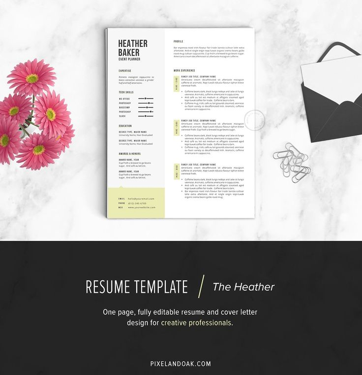 50 Creative Resume Templates You Wonu0027t Believe are Microsoft Word - event planner cover letter