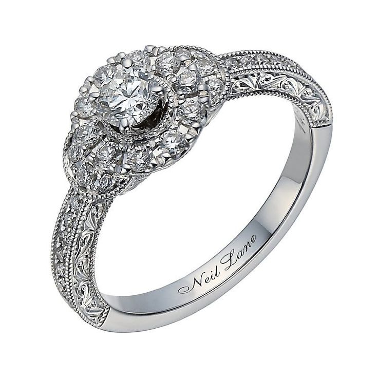 Best Neil Lane Pear shaped halo Dream Ring