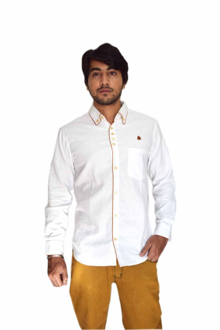 White Colored Party Wear Shirt