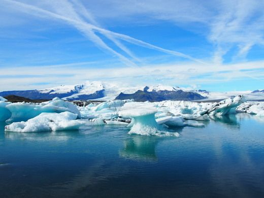 Iceland's largest lagoon is home to stunning multi-colored icebergs