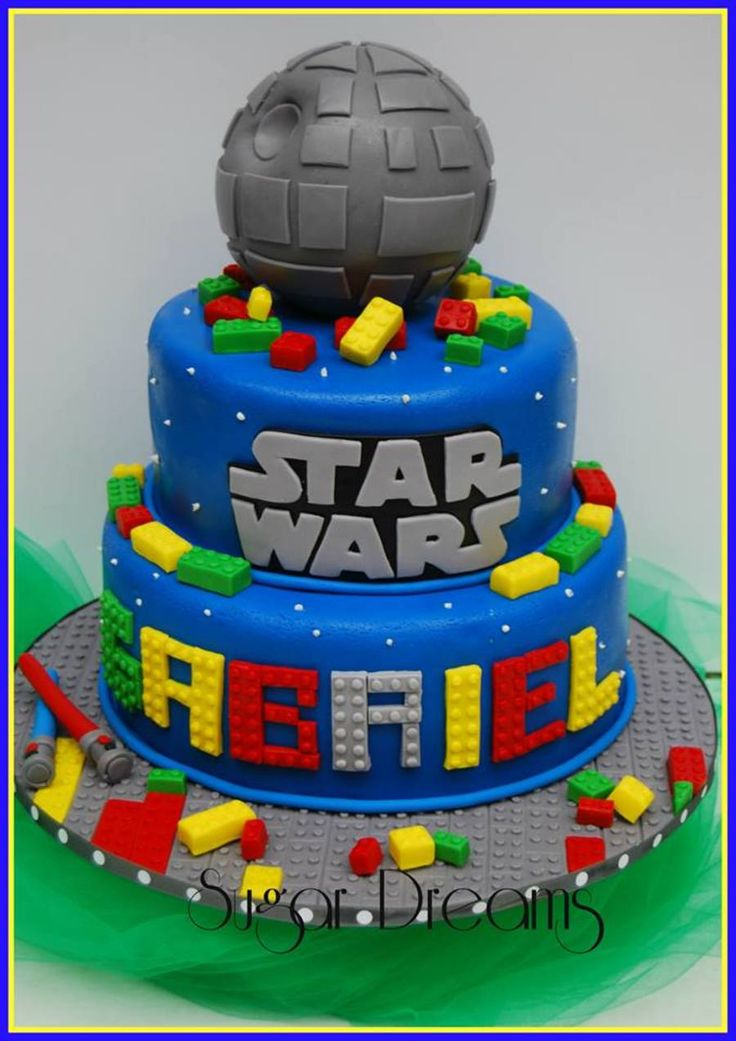 A Star Wars Lego Cake All The Decorations Are Made With Fondant