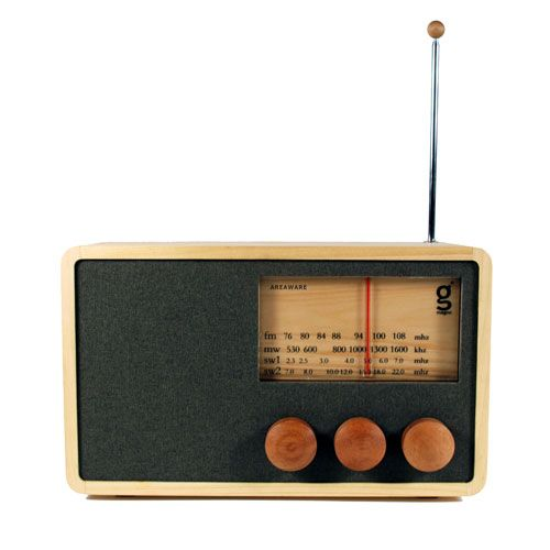 Hand–crafted Magno Radio / design by Singgih Kartono. Love that vintage is coming back around.
