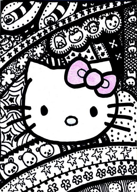 hello kitty doodle