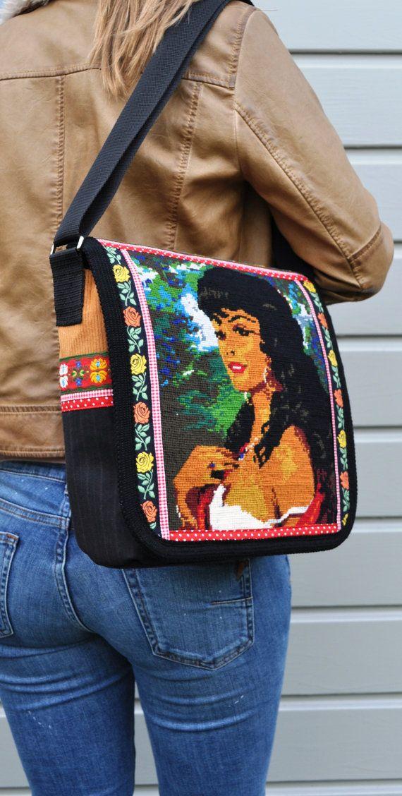 Gypsy girl messenger bag,