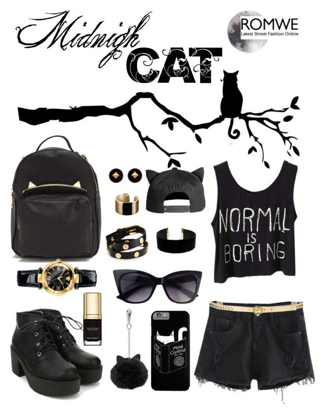 """•○●~ Midnight Cat ~●○•"" by esther-d ❤ liked on Polyvore featuring LULUS, Versace, Hermès, Lauren Ralph Lauren, Tory Burch and Dolce&Gabbana"