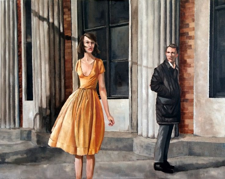 Chance Meeting - oil on canvas by Mila Posthumus