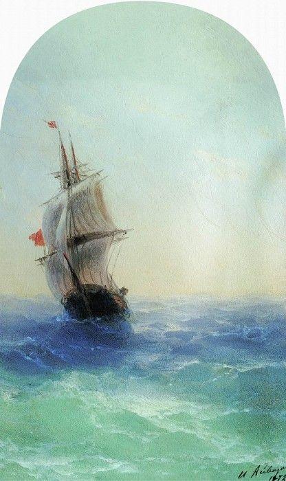 Бушующее море 1872 29х18. Иван Константинович Айвазовский