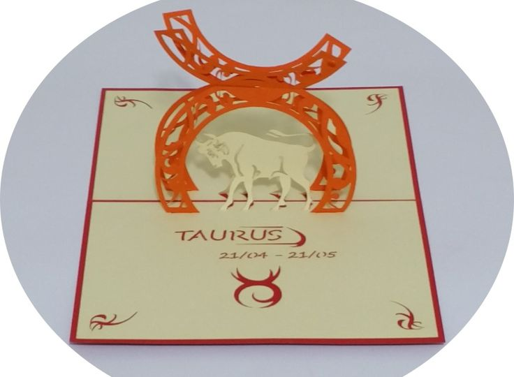 Taurus 21 April – 21 May - 3D Pop Up Cards - Greeting Cards - Ovid Gifts