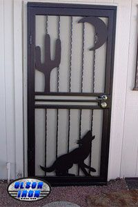 Olson Custom wrought iron Security Doors and Security Window Guards! \