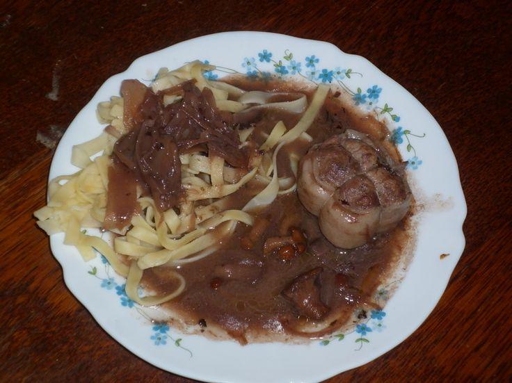 Sauce au vin rouge, échalotes et champignons