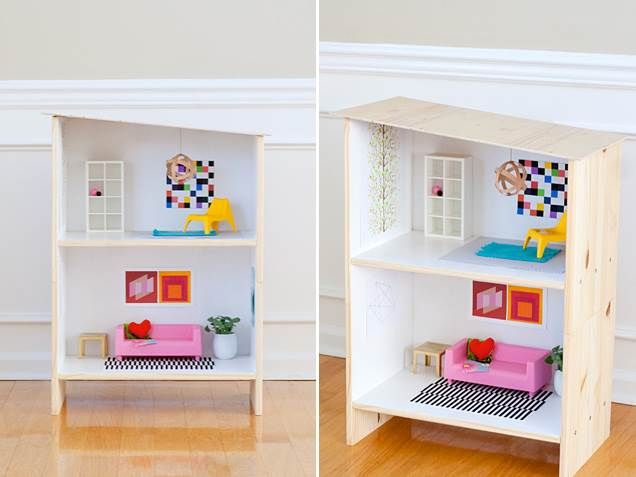 DIY: IKEA dollhouse hack - I'll never forget the Barbie dollhouse my dad made from scratch for me. Still wish I had that!