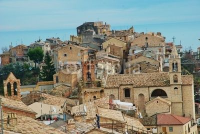 Roofs of the medieval village of Acquaviva Picena