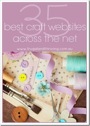 Get your craft on with these 35 amazing craft blogs and websites. Lots of inspiration, tutorials, patterns, resources and how-tos for a wide variety of handicrafts.