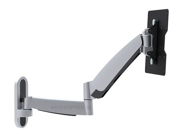 Smooth Motion Adjustable Tilting/Swiveling TV Wall Mount Bracket for Flat Screens (17-37 inch)