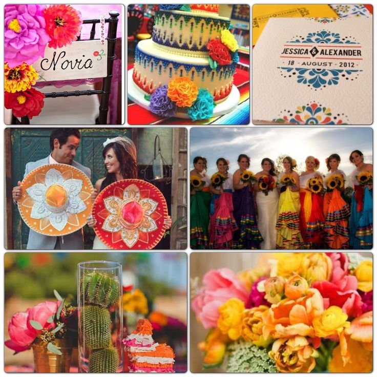 Mexican Themed Wedding Reception: Mexican Colorful Wedding Theme