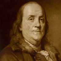Benjamin #Franklin, printer, writer, scientist, #inventor, statesman, civic leader and diplomat was the only person to sign the three documents that established the United States: the Declaration of Independence, the peace treaty with Britain that ended the Revolutionary War, and the #Constitution.