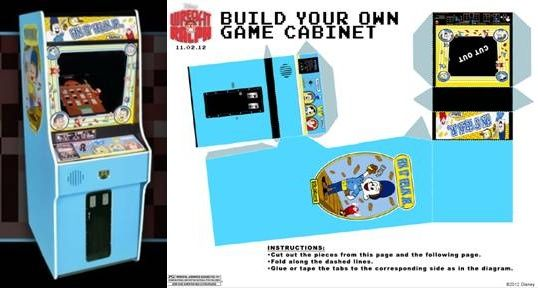 wreck it ralph printable game cabinet-horz