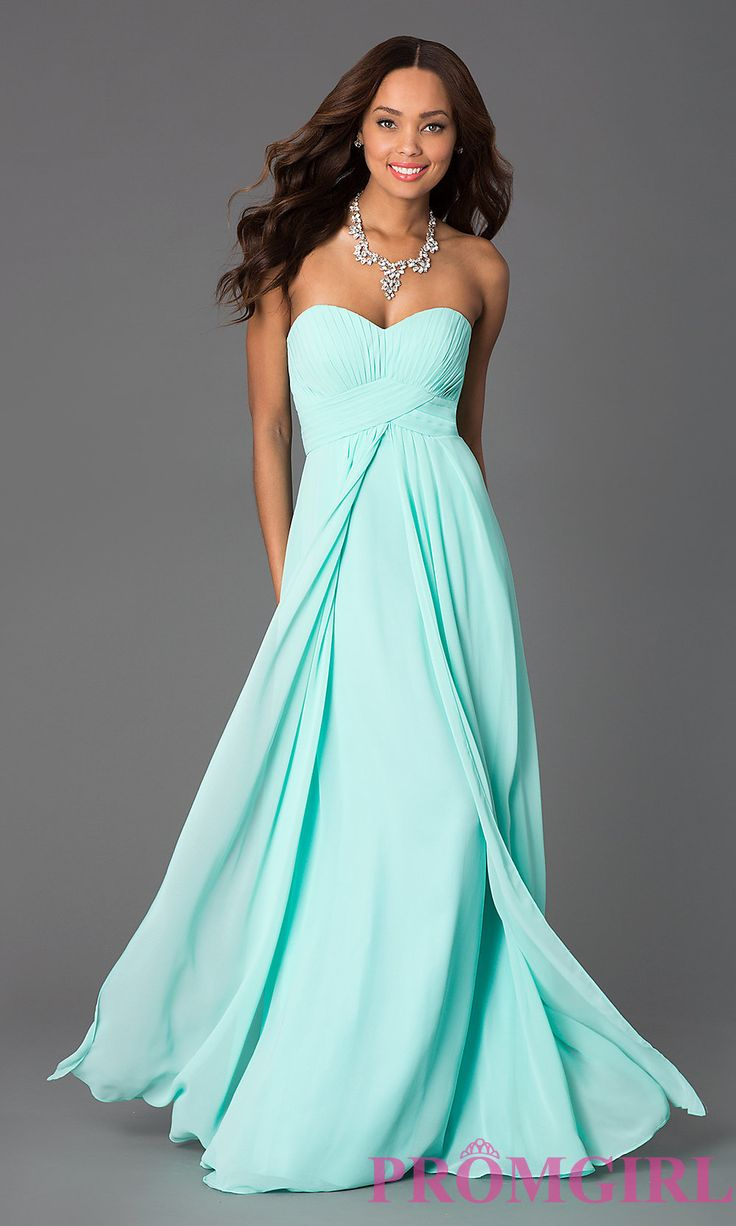 Long Strapless Empire Waist Prom Dress | Dresses