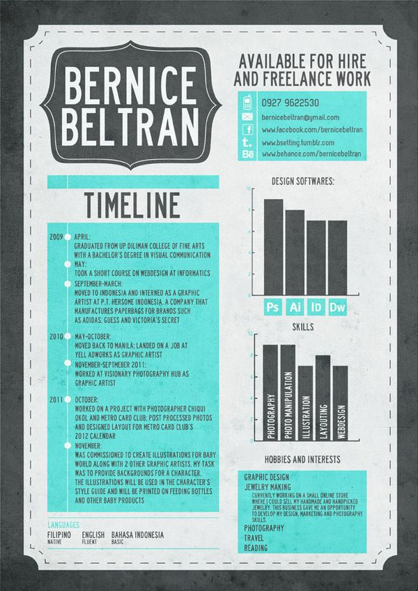 16 best resume images on Pinterest Graphic design resume - post resume