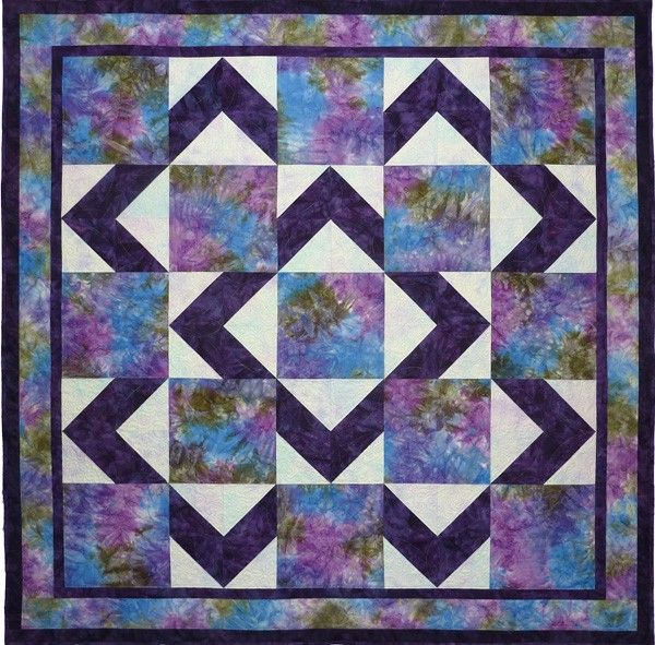 Easy Christmas Quilt Block Pattern | Easy quick baby quilt or easy lap quilt project - a free quilting