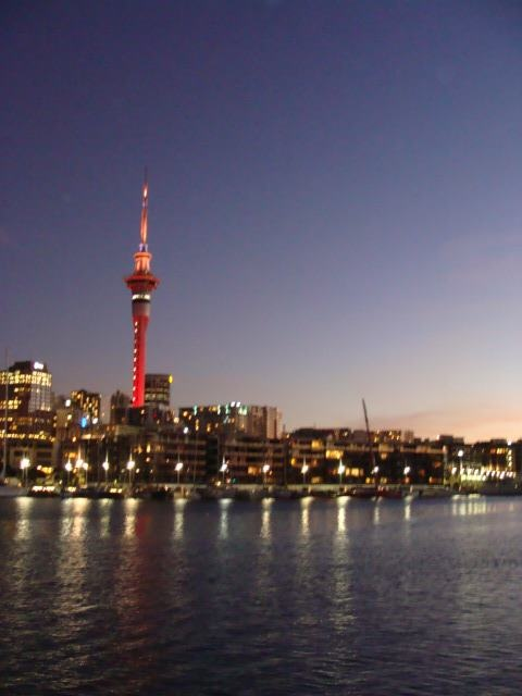 The Skytower in Auckland, New Zealand on a summers night!