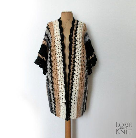 Boho Cardigan Hand Crochet Womens Cardigan Plus Size Sweater Long Cardigan Plus Size Cardigan Oversi 11