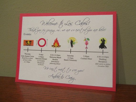Wedding Welcome Card by JLDesigns718 on Etsy, $1.00