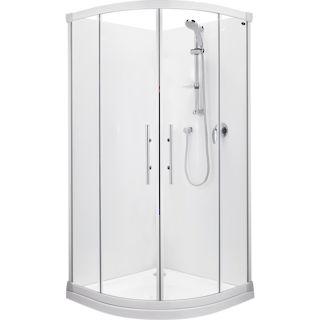 Valencia Round Sliding Shower 1000x1000mm