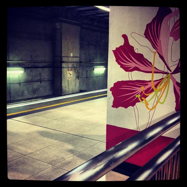 Hong Kong. Train station