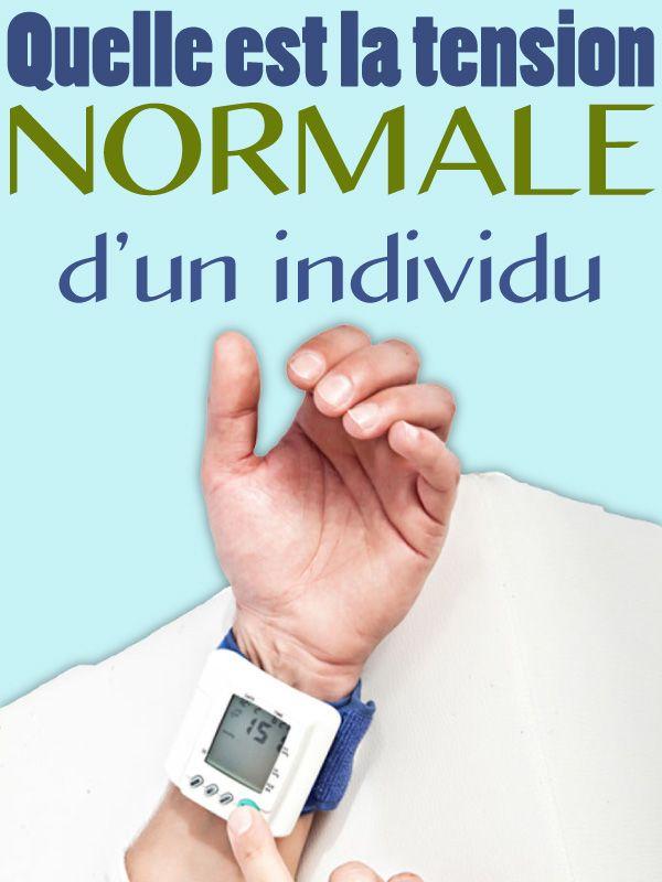 Quelle est la tension normale d'un individu? en 2020 - La..