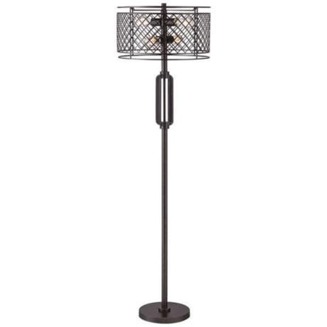 Franklin Iron Works Metal Lattice Bronze Floor Lamp - #4G483 LampsPlus.com Lights ...