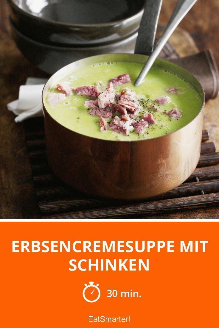 Erbsencremesuppe mit Schinken - smarter - Zeit: 30 Min. | eatsmarter.de