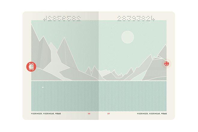 Norway minimalist new passport designs