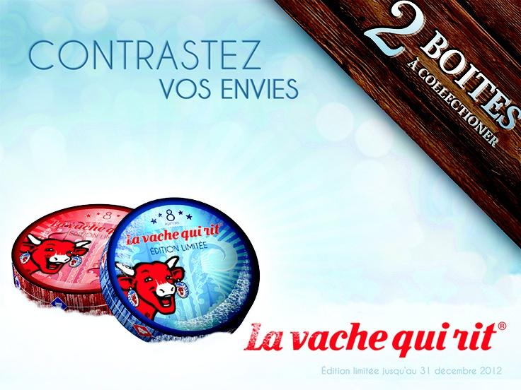 """La Vache Qui Rit : """"Contrastez vos envies""""  Affiche 4x3 métro"""
