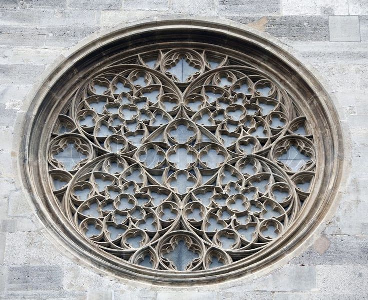 Rose window on St. Stephen's Cathedral in Vienna | Stock Photo ...