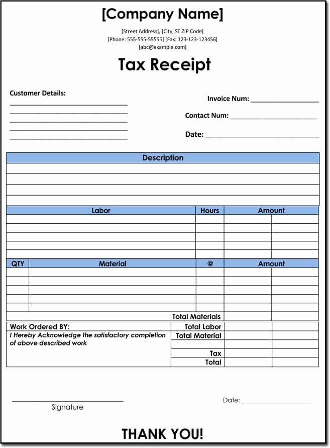 Fresh 10 Tax Receipt Templates Donation Tax In E Tax Receipt Template Templates Receipt