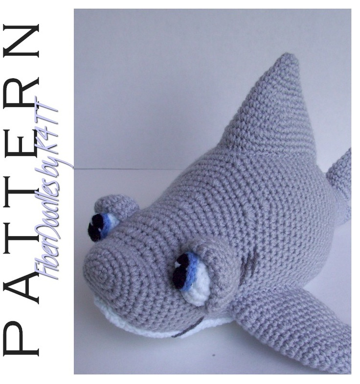 Amigurumi Shark Crochet Pattern : INSTANT DOWNLOAD : Chum the Great White Shark Crochet ...