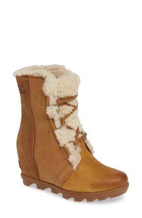 672424b64fa Great for SOREL Joan of Arctic Wedge II Genuine Shearling Bootie (Women)  Women Fashion Boots.   250  allfashiondress from top store