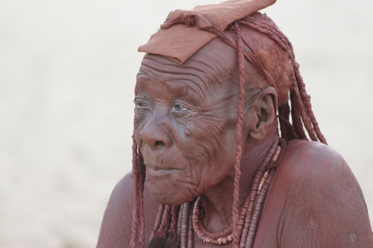 An elderly lady of the Himba tribe of #Namibia.