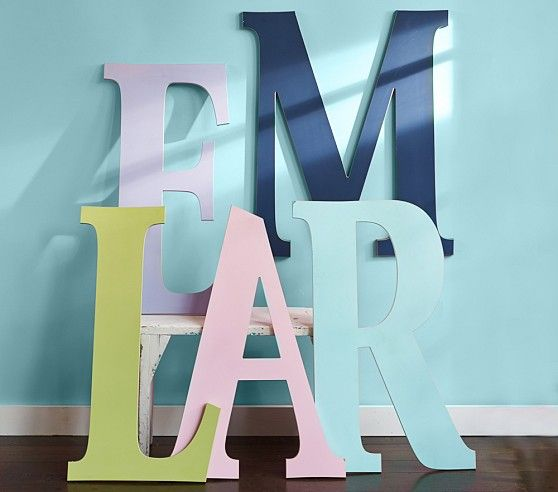 I love these giant letters! ~ Harper Painted Letters | Pottery Barn Kids